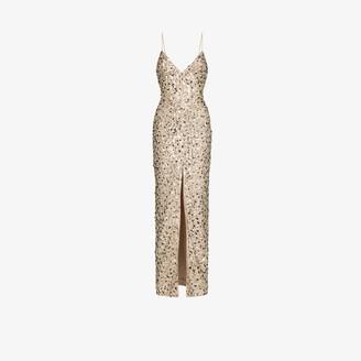 Rasario embellished V-neck maxi dress