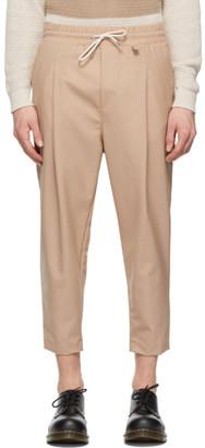 Drole De Monsieur Pink Wool Cropped Trousers