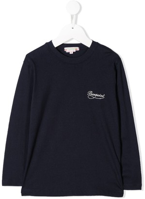 Bonpoint Logo Embroidered Top