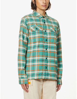 Patagonia Fjord checked organic-cotton flannel shirt