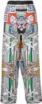 Versace Il Tempio silk trousers