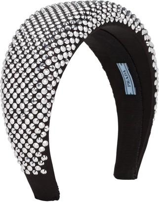 Prada chunky rhinestone-embellished hairband