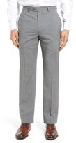 Santorelli Men's Flat Front Plaid Wool Trousers