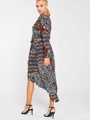 AX Paris Printed Wrap Dress - Multi