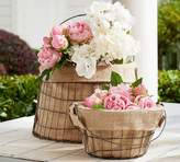 Pottery Barn Sussex Basket with Personalizable Burlap Liner