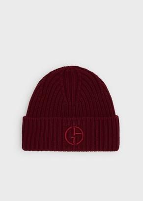 Giorgio Armani Wool And Cashmere Beanie Hat