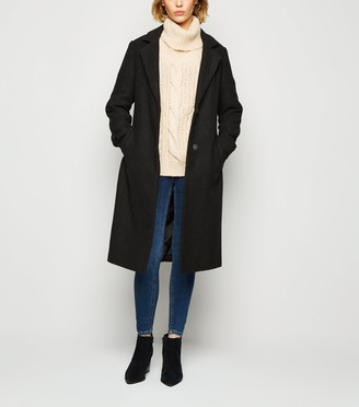 New Look Belted Longline Brushed Coat