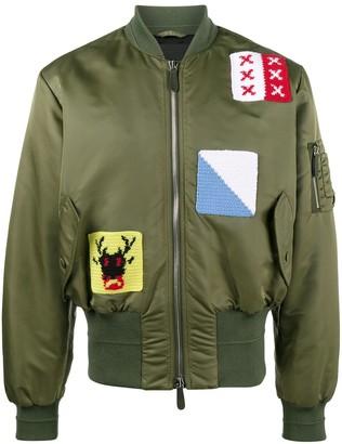 J.W.Anderson Applique stitch satin bomber jacket