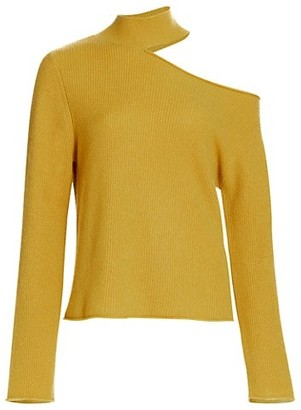 RtA Langley Cashmere Cutout Turtleneck Sweater