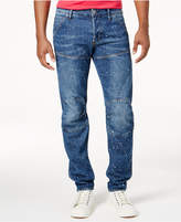 G Star Men's 5620 Slim-Fit Paint-Splatter Jeans, Created for Macy's
