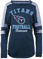 5th & Ocean Women's Tennessee Titans Space Dye Long Sleeve T-Shirt