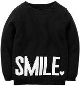 "Carter's Girls 4-8 Smile"" Sweater"