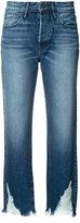 3x1 raw hem cropped jeans