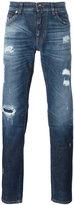 Dolce & Gabbana distressed jeans - men - Cotton/Spandex/Elastane/Zamak/Calf Leather - 44