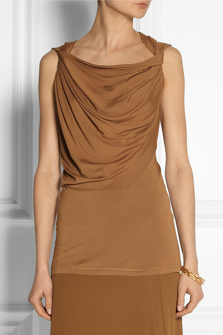 Donna Karan Draped stretch-jersey top