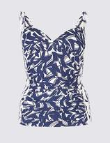 Marks and Spencer Secret SlimmingTM Ruched Printed Tankini Top