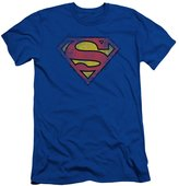 Superman DC Comics Destroyed Supes Logo Adult Slim T-Shirt Tee