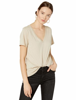 The Drop Women's Lindsey Short-Sleeve V-Neck Loose Fit T-Shirt