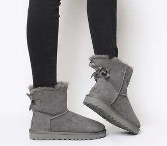 UGG Mini Bailey Bow Boots Grey