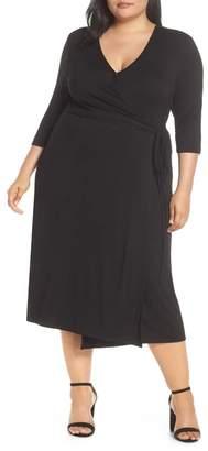 Tart Penni Floral Wrap Midi Dress (Regular & Plus Size)