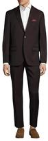 Ben Sherman Wool Solid Peak Lapel Suit