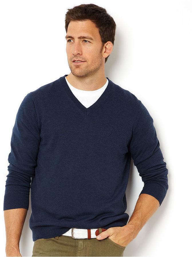Nautica Sweater, V Neck Lightweight Sweater