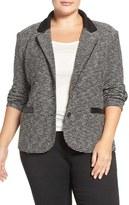 Tart Plus Size Women's 'Leena' Contrast Trim Blazer