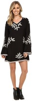 Scully Eda Embroidered and Lace Trim Dress