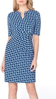Tahari Women's Print Faux Wrap Sheath Dress