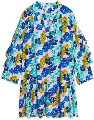 Arket Flouncy Ruffled Dress