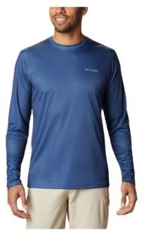 Columbia Men's Terminal Tackle Pfg Vintage-Like Fish Long Sleeve Shirt
