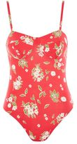 Topshop Floral cupped bodysuit