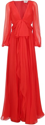 Alexander McQueen Draped Maxi Dress