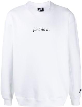 Nike JDI oversized slogan-embroidery sweatshirt