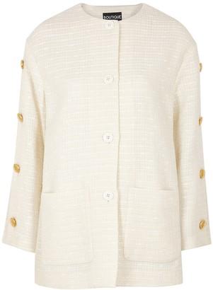Boutique Moschino Ivory tweed jacket