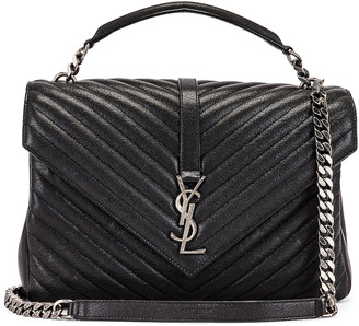 Saint Laurent Large College Monogramme Bag in Black | FWRD