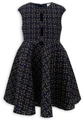 David Charles Little Girl's Tweed Fit & Flare Dress