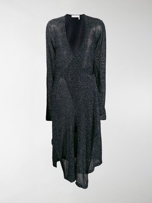 Chloé Lurex wrap dress