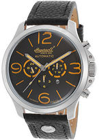 Ingersoll 1503GYOR Men's Totem Auto Chrono Ltd Ed Black Genuine Leather and