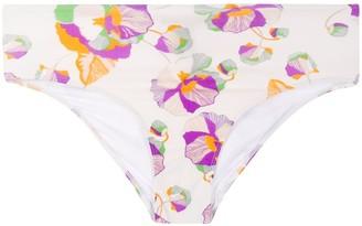 Isabel Marant Floral Print Stretch Fit Bikini Bottoms
