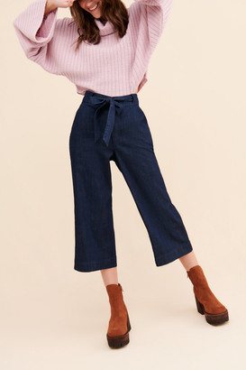 ModCloth Cropped Wide-Leg Jeans
