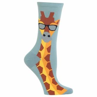Hot Sox Giraffe Gray Crew Socks