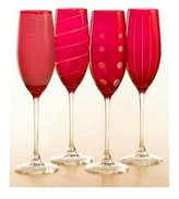 Ruby Champagne Flutes (Set of 4) by Mikasa