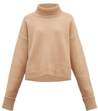 Maison Margiela Roll-neck Wool-blend Sweater - Womens - Camel