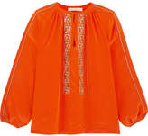 Vanessa Bruno Honor Embroidered Silk Blouse - Orange