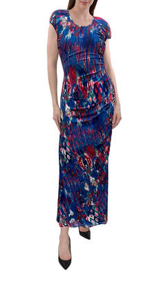 Anna Cai Side Gathering Knit Maxi Dress