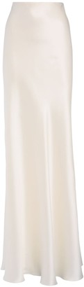 Ralph Lauren Collection Stretch Silk Satin Long Skirt