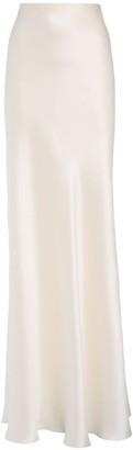 Ralph Lauren Collection Stretch Silk Satin Long Skirt
