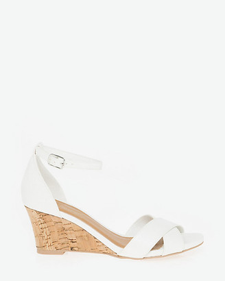 Le Château Faux Leather Ankle Strap Sandal