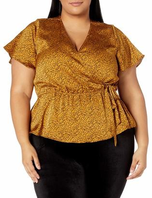 Forever 21 Women's Plus Size Faux Wrap Top